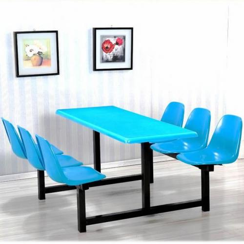 山字型靠背凳连体餐桌