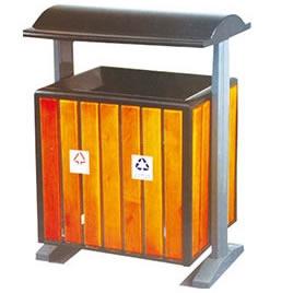中星LJ137分类环保垃圾箱(钢木型)