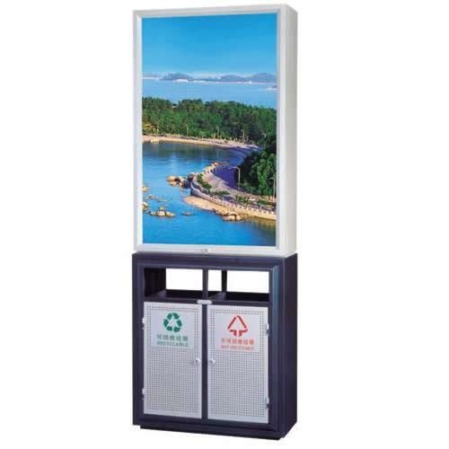 ZX-GL101广告灯箱垃圾桶
