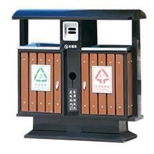 分类环保垃圾箱(钢木型)