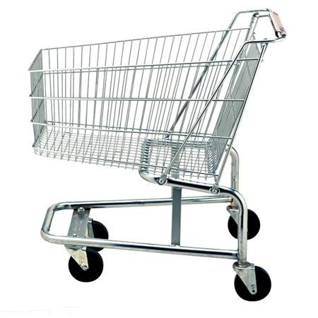 不锈钢超市购物推车