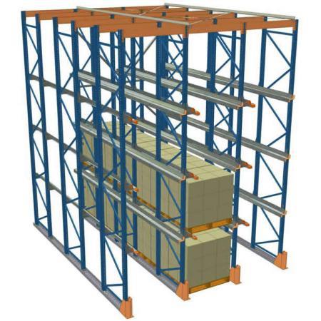 贯通式钢制重型仓储货架
