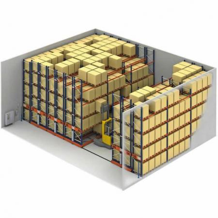 重型钢制移动式仓储货架